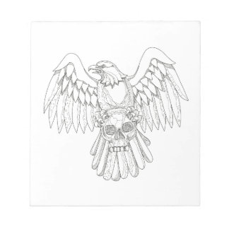 American Eagle Clutching Skull Doodle Notepad