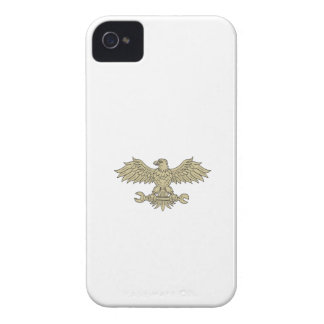 American Eagle Clutching Spanner Drawing Case-Mate iPhone 4 Case