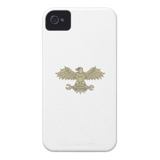 American Eagle Clutching Spanner Drawing iPhone 4 Case