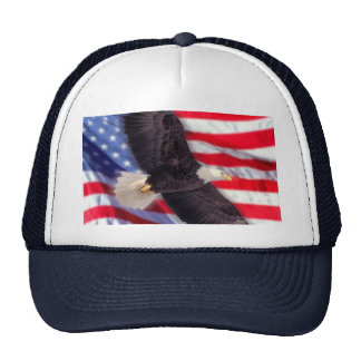 American Eagle con el casquillo de la bandera amer Gorros Bordados
