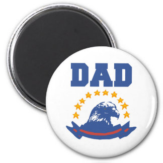 American Eagle Dad 2 Inch Round Magnet