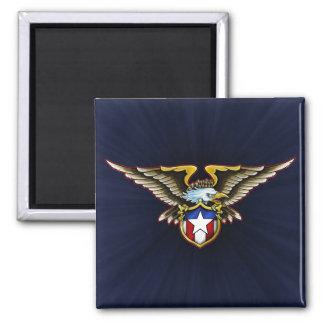 American Eagle Design 2 Inch Square Magnet