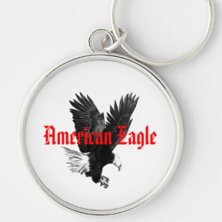 American Eagle Drawing Classic Key chain