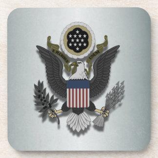 American Eagle E Pluribus Unum Patriotic Beverage Coaster