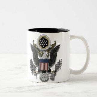American Eagle E Pluribus Unum Taza De Café De Dos Colores