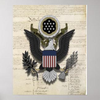 American Eagle en la constitución Poster