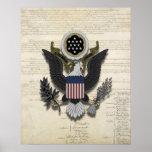 American Eagle en la constitución Póster