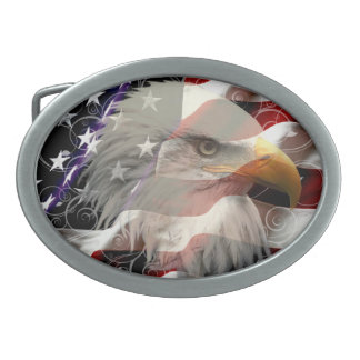 American Eagle Flag Belt Buckle