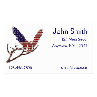American Eagle Flag Business Card