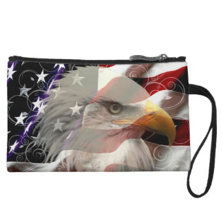 American Eagle Flag Clutch Purse