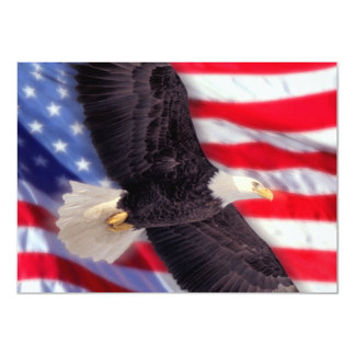 American Eagle & Flag Invitation
