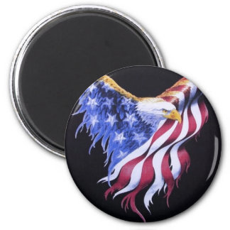 American Eagle Flag 2 Inch Round Magnet