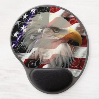 American Eagle Flag Mouse Pad Gel Mouse Mat