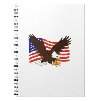 AMERICAN EAGLE FLAG SPIRAL NOTE BOOK