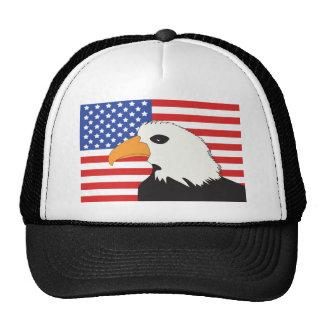 American Eagle Flag Patriotic Background Trucker Hats