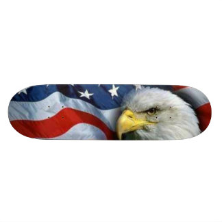 American Eagle + Flag Skateboard Deck
