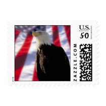 American Eagle & Flag Stamp
