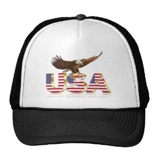 American eagle flag trucker hat