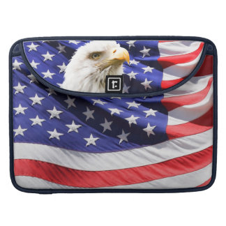 American Eagle Flag USA Stars Stripes Old Glory Sleeve For MacBook Pro