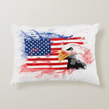 USA Themed American Eagle, Flagge. The USA, America Accent Pillow