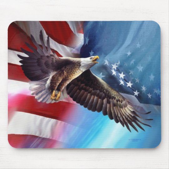 american eagle flying mouse pad