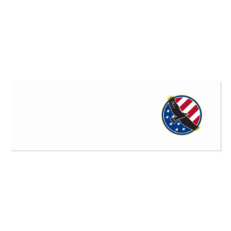American Eagle Flying USA Flag Retro Business Card