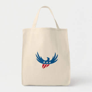 American Eagle Flying USA Flag Retro Tote Bag