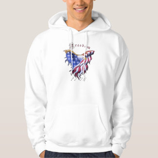 American Eagle - Freedom White Hooded Sweatshirt