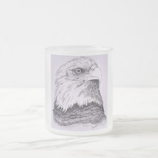 American Eagle Frosted Glass Coffee Mug