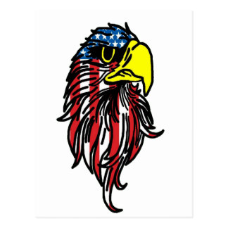 American Eagle Head Postcard