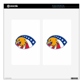 american eagle head stars and stripes flag decal for kindle fire