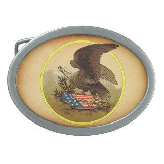American Eagle Hebilla Cinturon Oval