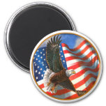 American Eagle in Flight Fridge Magnets