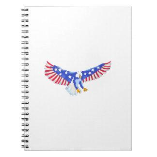 AMERICAN EAGLE IN FLIGHT NOTE BOOKS