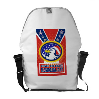American Eagle Memorial Day Poster Greeting Card Commuter Bags