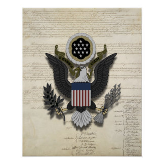 American Eagle on the Constitution 16 x 20 Print