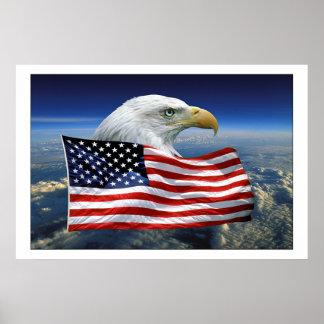 American Eagle orgulloso Póster