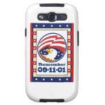 American Eagle Patriot Day 911 Greeting Card Samsung Galaxy S3 Case