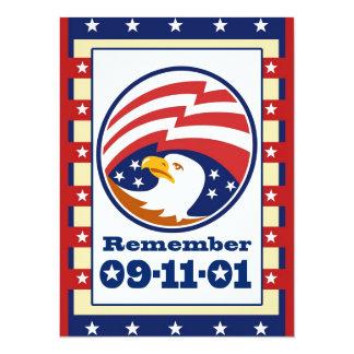 "American Eagle Patriot Day 911 Greeting Card 5.5"" X 7.5"" Invitation Card"