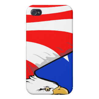 American Eagle - Patriotic - American Flag Case For iPhone 4