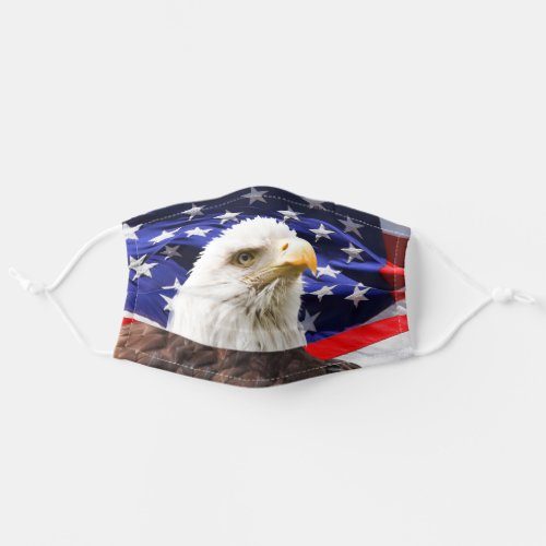American Eagle Patriotic Flag Adult Cloth Face Mask