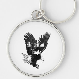 American Eagle Pen and Ink Drawing Key chain