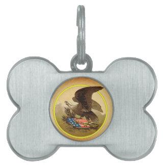 American Eagle Placa De Nombre De Mascota