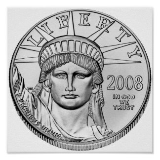 American Eagle Platinum Reverse Proof Coins Poster