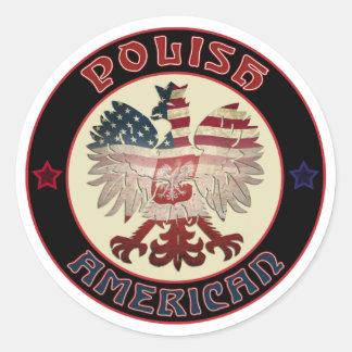 American Eagle polaco Pegatina Redonda