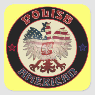 American Eagle polaco Colcomanias Cuadradas Personalizadas