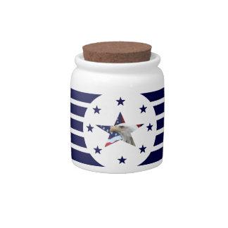AMERICAN EAGLE PORCELAIN JAR CANDY JAR