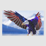 American Eagle Rectangular Pegatinas
