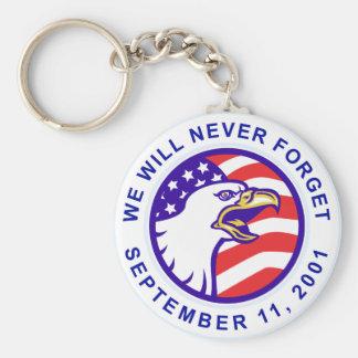 American eagle remember 9-11 USA flag Key Chain