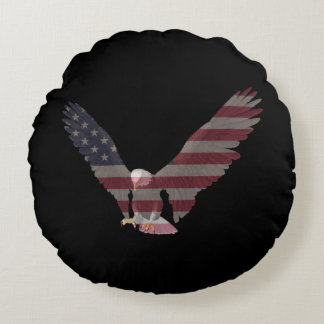 American Eagle Round Pillow